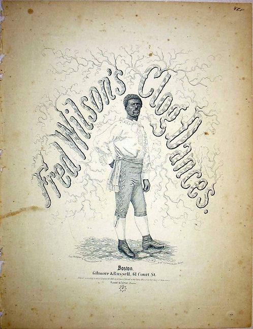 SHEET MUSIC- BLACK FACE MINSTREL - FRED WILSONS CLOG DANCES