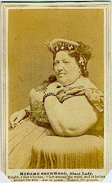 CIRCUS - SIDESHOW -MADAME SHERWOOD - GIANT LADY CDVy