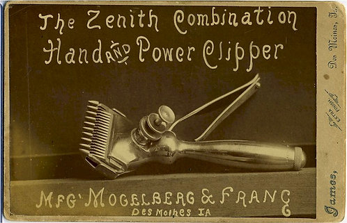 ADVERTISING- CABINET CARD -  HAIR CLIPPER.