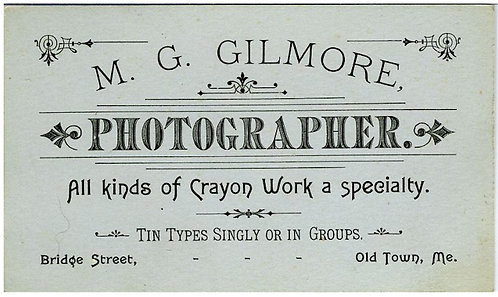 PHOTOGRAPHY - PHOTOGRAPHER'S BUSINESS /TRADE CARD.