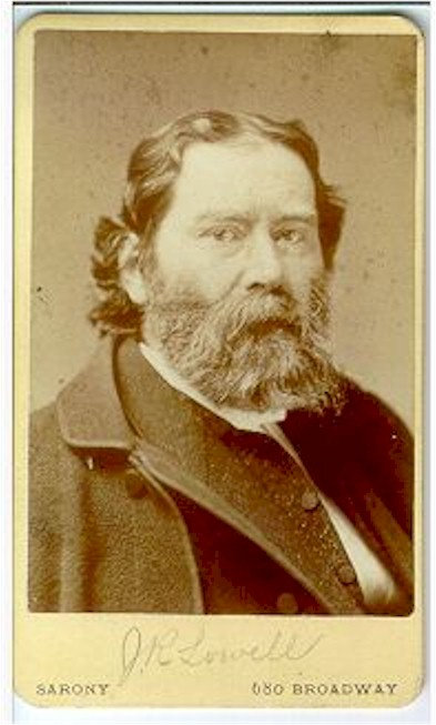 LITERARY -  JAMES RUSSELL LOWELL - CDV.