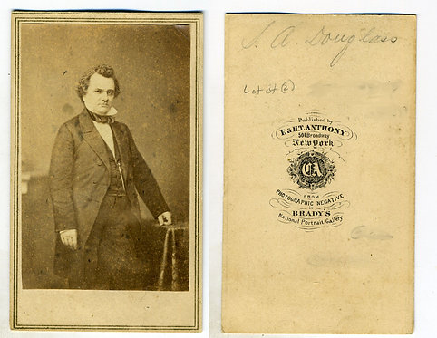 CDV- LOT OF TWO -STEPHEN A DOUGLAS AND WIFE