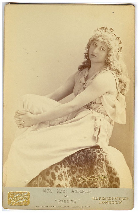 CABINET CARD - ACTRESS MARY ANDERSON.