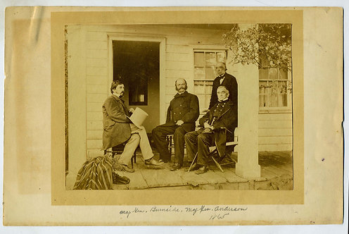 CIVIL WAR PHOTOGRAPH  - GENERALS BURNSIDE AND ANDERSON - 1864