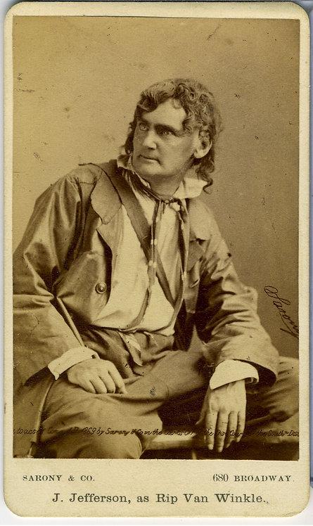 ACTOR JOSEPH JEFFERSON - SARONY NY -CDV.