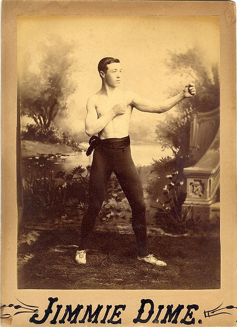 SPORTS - BOXING - 19th C. BOXING PHOTOGRAPH