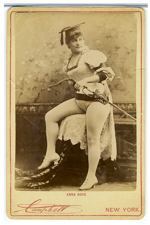 CABINET CARD –ACTRESS  ANNA BOYD -  RISQUE