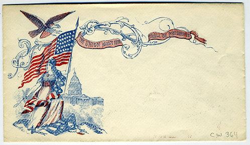 CIVIL WAR - PATRIOTIC COVER - CANNON EAGLE ANCIVIL WAR - PATRIOTIC COVER D FLAGS