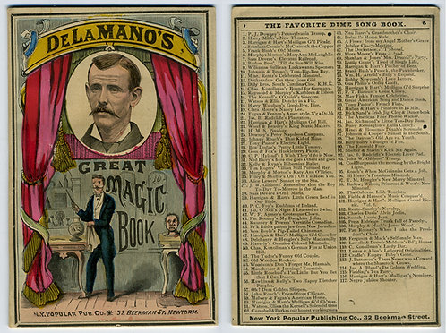DE LA MANO'S GREAT MAGIC BOOK. N.Y - 1877