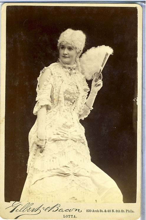 ACTRESS LOTTA CRABTREE – DARLING OF THE GOLD CAMPS - CABINET CARD