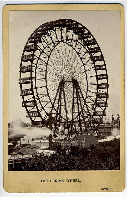 COLUMBIAN EXPOSITION - FERRIS WHEEL - CABINET CARD
