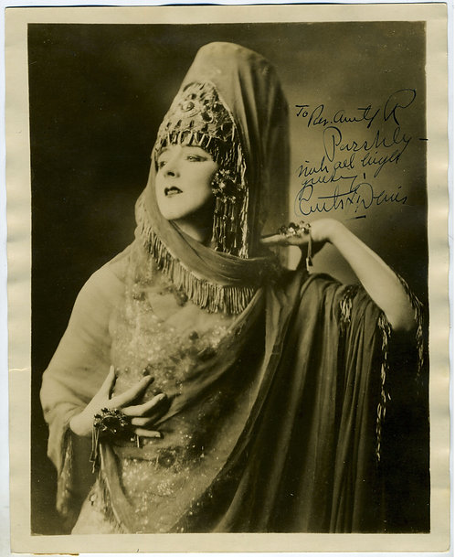 RUTH ST. DENIS – MODERN DANCE PIONEER - SIGNED PHOTOGRAPH.