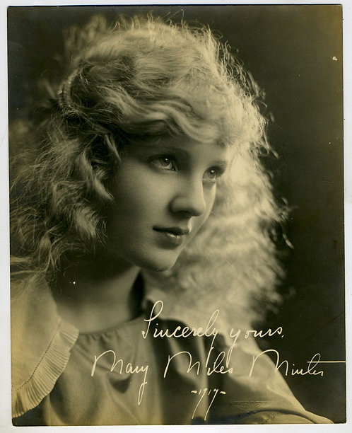 PHOTO - ORIG. - MARY MILES MINTER - SILENT FILM STAR – NOTED FOR MURDER SCANDAL