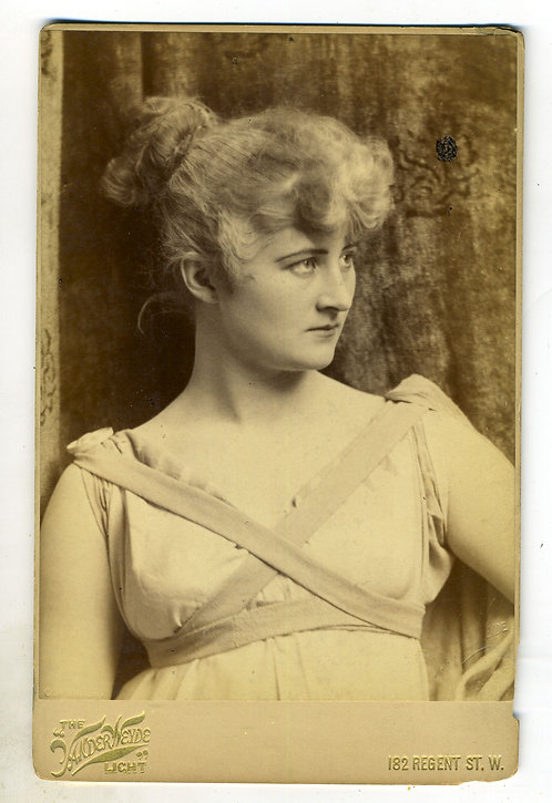 CABINET CARD- ACTRESS MARY ANDERSON – AS PARTHENIA
