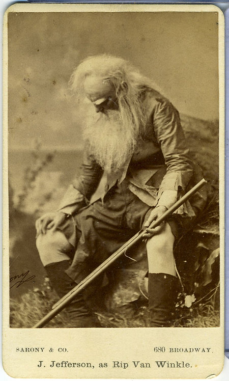 ACTOR JOSEPH JEFFERSON AS RIP VAN WINKLE -  CDV