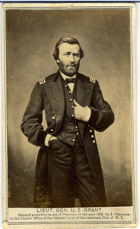 CIVIL WAR - U.S. GRANT –CDV 1865.