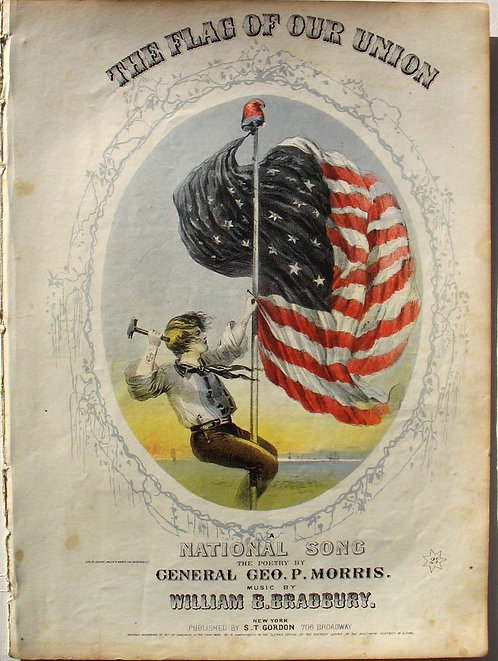SHEET MUSIC – CIVIL WAR - THE FLAG OF OUR UNION