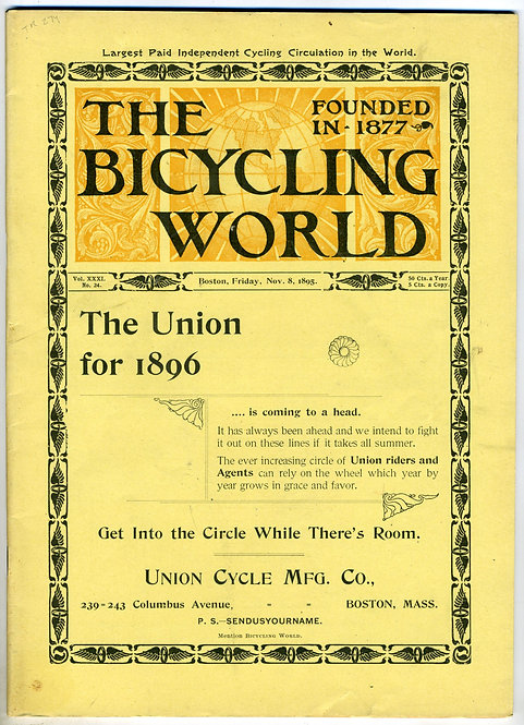 TRANSPORTATION – BICYLES - THE BICYCLING WORLD. 1895