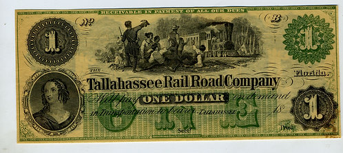 CURRENCY – TALLAHASSEE RAIL ROAD COMPANY - $1 – NM CONDITION - CRISP
