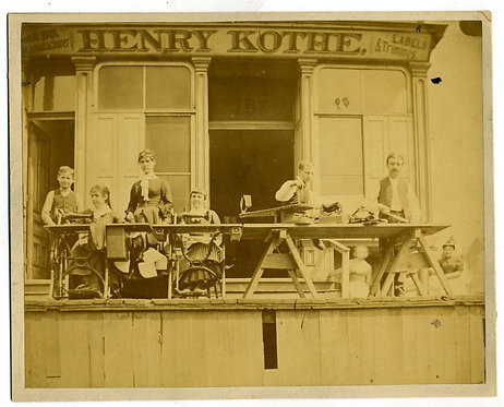 OCCUPATIONAL STOREFRONT -LADIES WITH SEWING MACHINES.