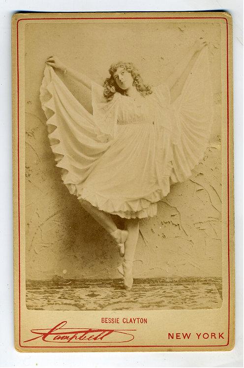 CABINET CARD DANCER BESSIE CLAYTON