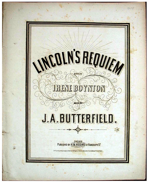 LINCOLN - SHEET MUSIC - FUNERAL REQUIEM