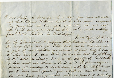 POLITICAL -ZACHARY TAYLOR - 1848 LETTER