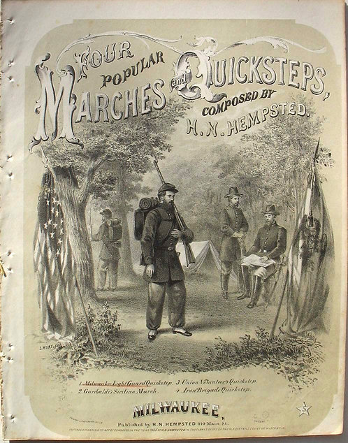 SHEET MUSIC - CIVIL WAR - FOUR POPULAR MARCHES AND QUICKSTEPS