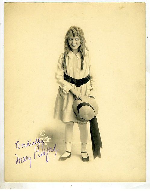 PHOTOGRAPH - ORIGINAL - MARY PICKFORD - SILENT FILM STAR –HARTSOOK PHOTO