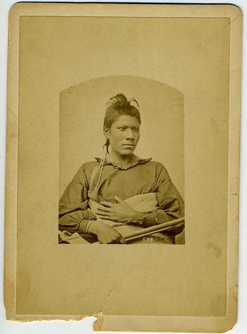 PAWNEE - SCOUT FOR CAVALRY- WM. H. JACKSON CABINET CARD