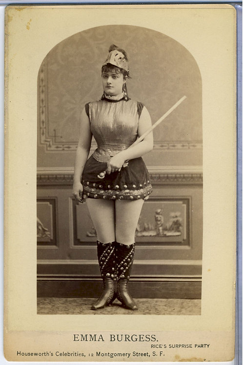 CABINET CARD – ACTRESS – EMMA BURGESS – RISQUE – HOUSEWORTH