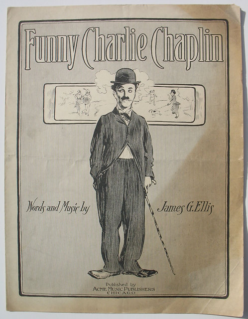 SHEET MUSIC – FUNNY CHARLIE CHAPLIN- 1915