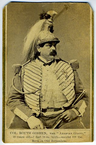 CIRCUS - SIDESHOW -COLONEL ROUTH GOSHEN - GIANT - CDV