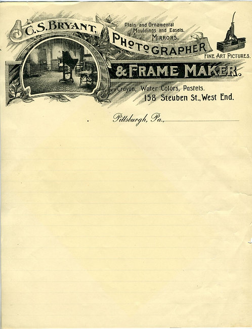 PHOTOGRAPHY -PHOTOGRAPHER ILLUSTRATED LETTERHEAD.