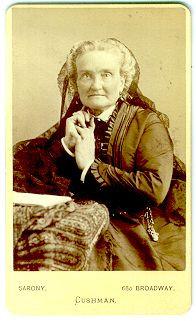 ACTRESS CHARLOTTE CUSHMAN - SARONY NY - CDV.
