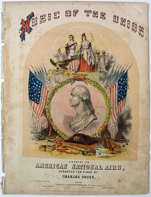 SHEET MUSIC – CIVIL WAR – MUSIC OF THE UNION- 1861