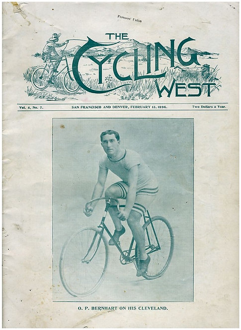 TRANSPORTATION - BICYLES -THE CYCLING WEST MAGAZINE - FEB 13 1898