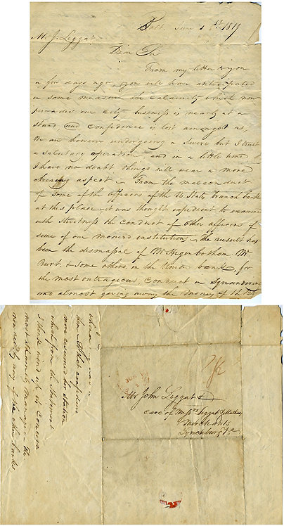 PANIC OF 1819 LETTER