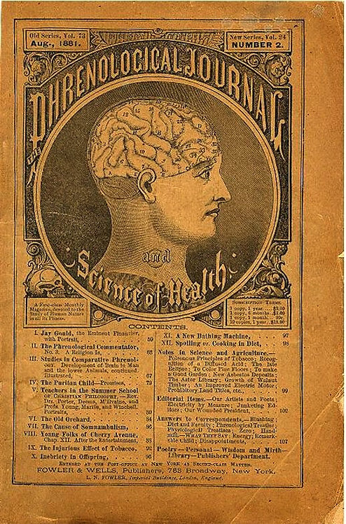 THE PHRENOLOGY JOURNAL AND SCIENCE HEALTH -  1881,