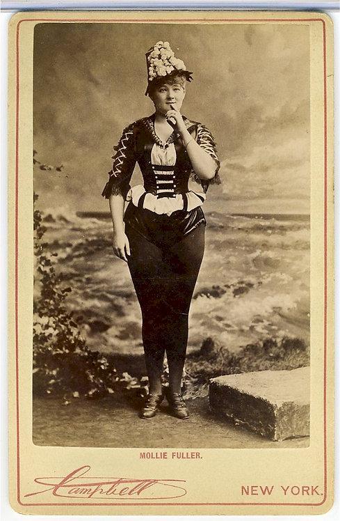CABINET CARD –ACTRESS MOLLIE FULLER