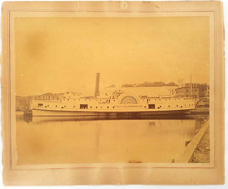 PHOTOGRAPH - SIDEWHEELER -   CITY OF LAWRENCE