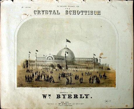 SHEET MUSIC – CRYSTAL SCHOTTISCH - 1853