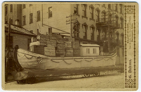 OCCUPATIONAL- CABINET CARD – MERCHANT'S PARADE FLOAT