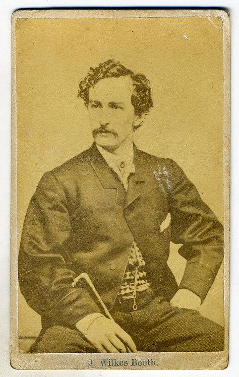 JOHN WILKES BOOTH. - ASSASSIN OF LINCOLN CDV