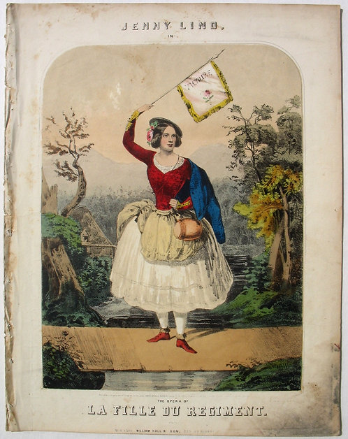 SHEET MUSIC – JENNY LIND - THE OPERA OF LA FILLE DU REGIMENT- 1845