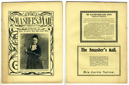 TEMPERANCE - THE SMASHER'S MAIL - CARRIE NATION