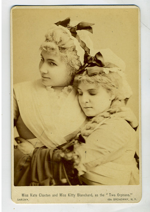 CABINET CARD – ACTRESS – KATE CLAXTON -  KITTY BLANCHARD – TWO ORPHANS – SARONY