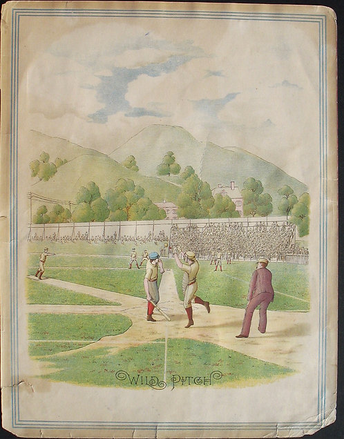 SPORTS – BASEBALL – 19th c. LITHOGRAPH - OUR NATIONAL GAME -1887