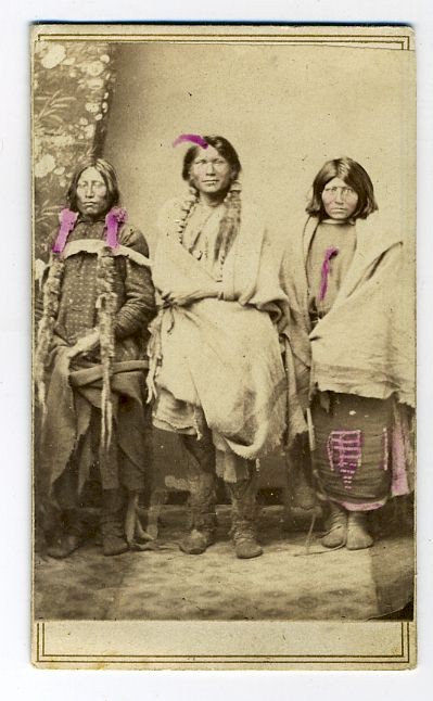 NATIVE AMERICAN - CDV –  PAWNEE SCOUTS.