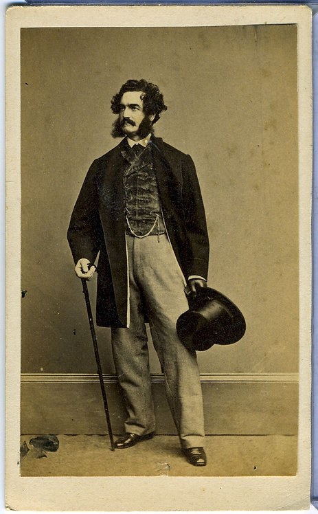 LESTER WALLACK - ACTOR PLAYWRIGHT MANAGER - CDV.